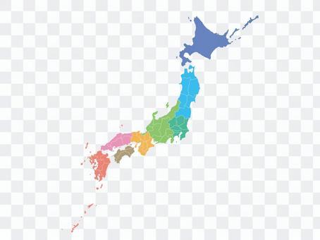 Japan Map [6] By Region