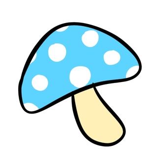 Polka dot mushroom blue