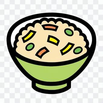 米飯煮熟的米飯日本料理冰串