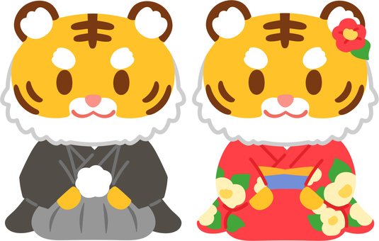 Seiza 虎(褲裙和振袖)