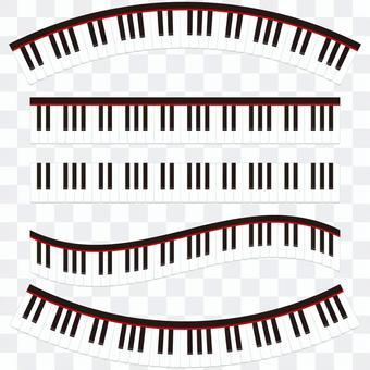 Piano keyboard line