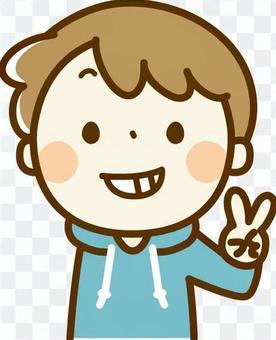 和平标志男孩