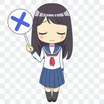 水手服女孩×2
