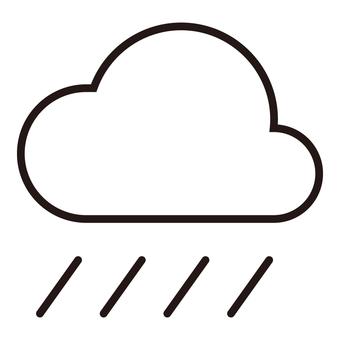 Weather icon (rain ①)