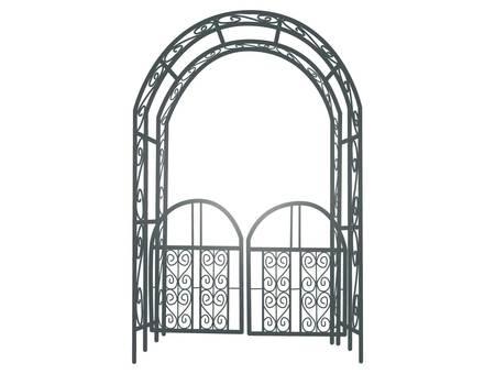 Illustration of black gardening arch