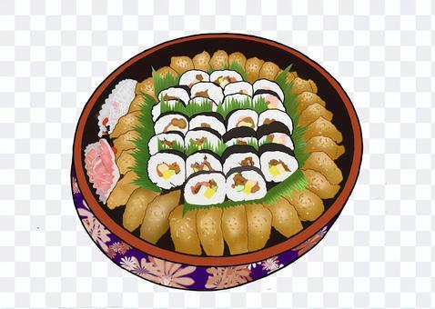 稻荷壽司和壽司卷