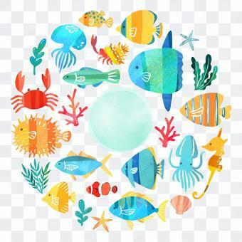 魚フレーム