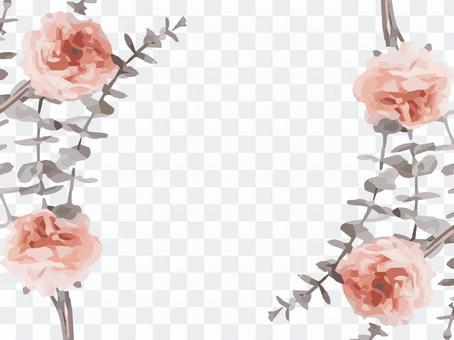 真正的玫瑰花框