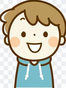 一个微笑的男孩