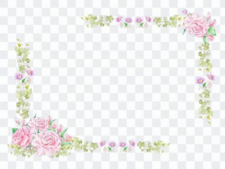 No rose frame line ★ 0029-R