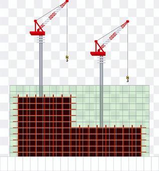 建設中のビル 工事現場