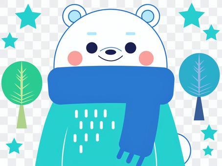 北極熊冬季裝