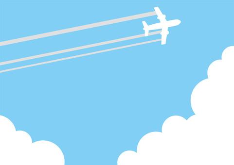 飛機和天空和雲彩2