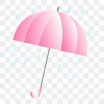 粉紅色的雨傘圖