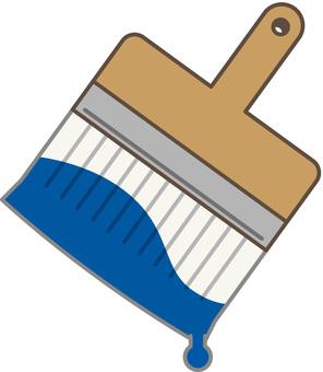 刷藍色顏料