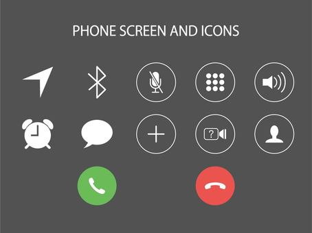 Icons related to smartphone phones