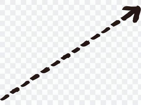 虛線的箭頭