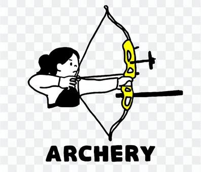 Woman doing archery (simple)