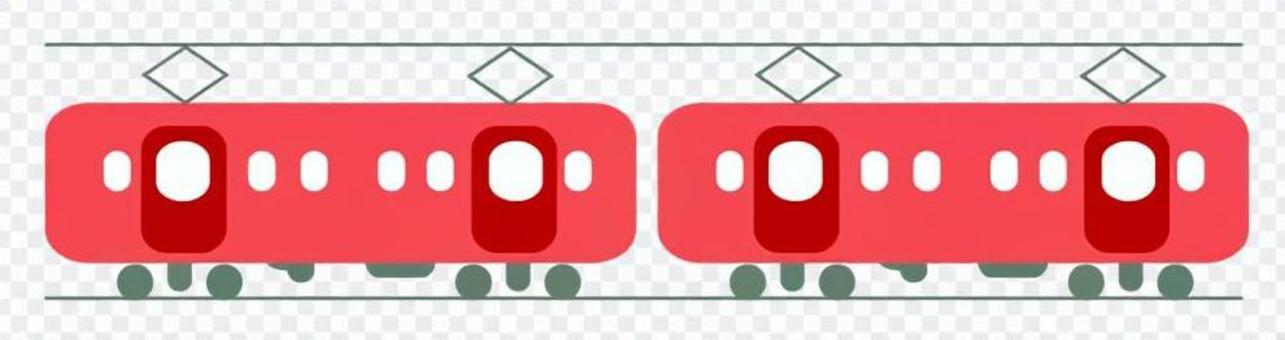 火車的例證(紅色)