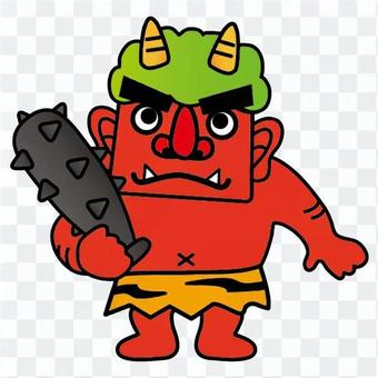 Scary red demon (whole body)
