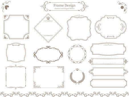 Classic & elegant frame