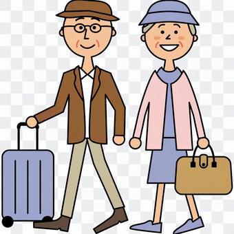年長的夫婦旅行