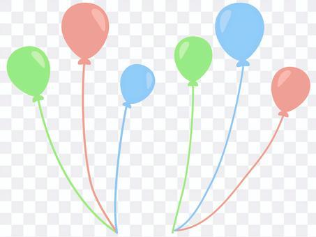 三色氣球的插圖