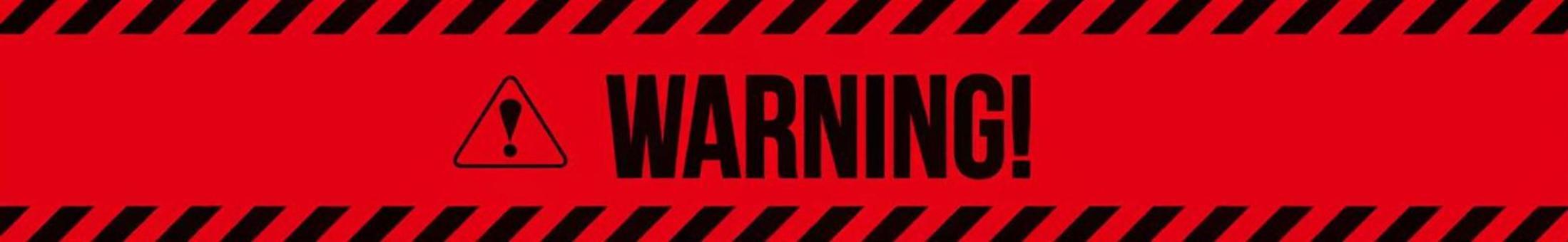 警告注意·警告圖標橫幅