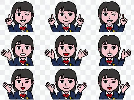 Ichi A_Face Summary 22_高中女生B