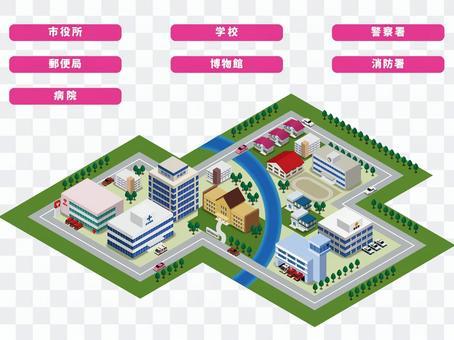 公共施設の街並み