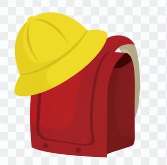 School cap and school bag