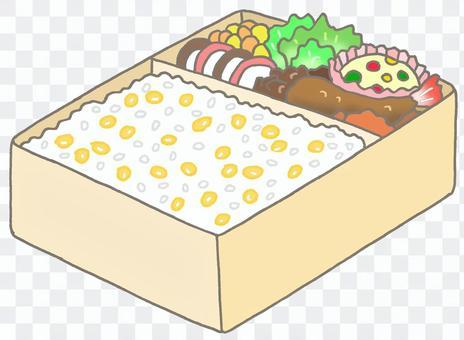 玉米飯盒午餐