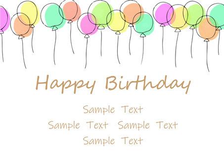 氣球框架生日賀卡