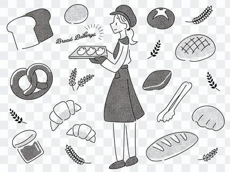 麵包店的插圖集(黑色)
