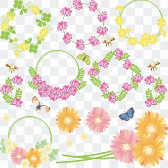 春天的花朵設置02