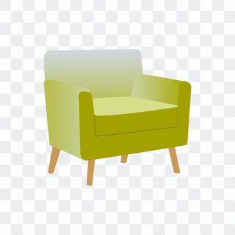 單人沙發(黃色)