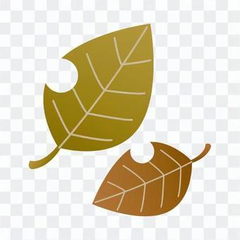 가을의 풍물 - 낙엽