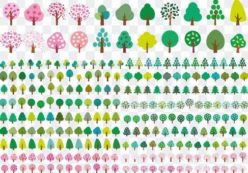 春天夏天樹簡單圖標素材葉櫻桃樹初夏
