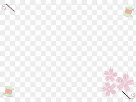 刺繡櫻花框架