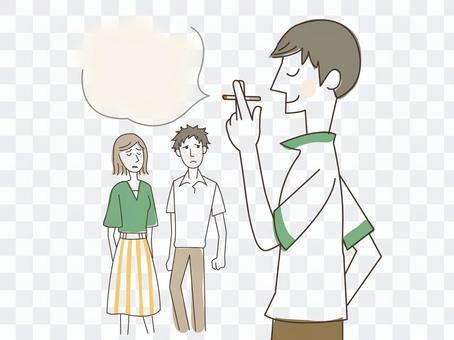 人物/男性/喫煙