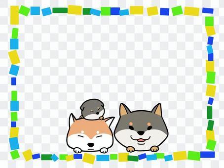 柴犬のフレーム