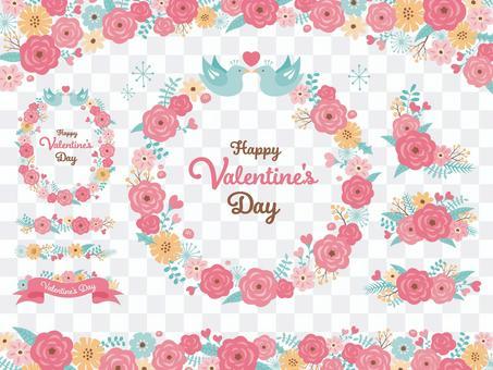 Valentine flower frameset 2021