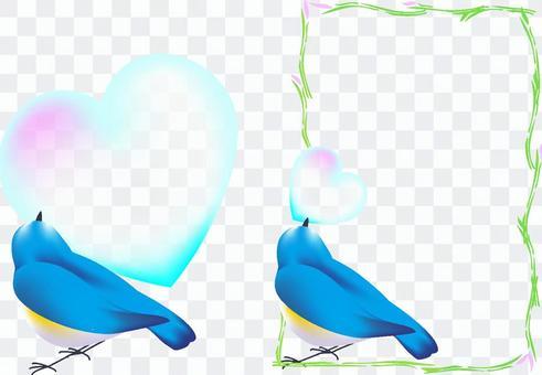 攜帶心臟的鳥(垂直)