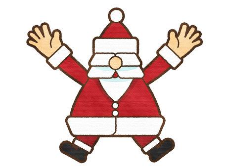 用水彩筆觸跳聖誕老人
