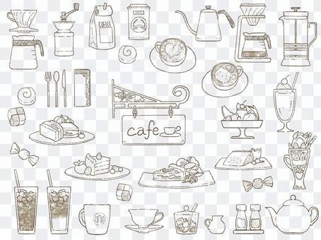 カフェこものセット セピア