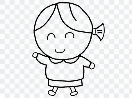 幼兒園女孩單色