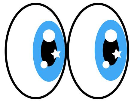 Glitter eyes blue eyes icon