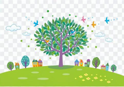 Hill tree 1