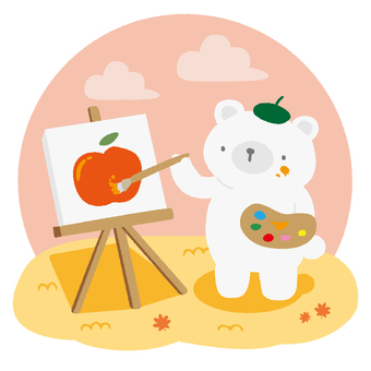 예술을 즐기는 북극곰