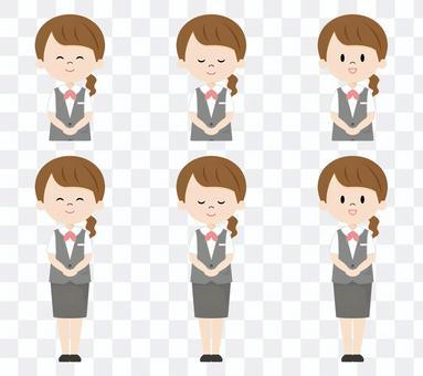 Female receptionist_greeting